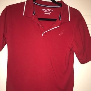 Boys polo shirt red - nautica ! Like new